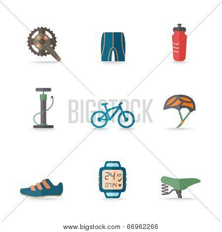 Bike Icons Flat