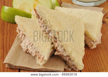 Tuna Sandwich With The Crust Removed