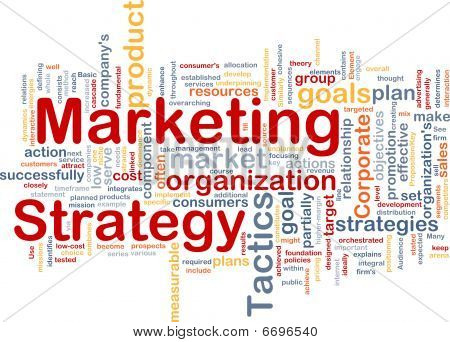 Marketing Strategy Word Cloud