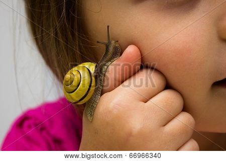 Child with snail.