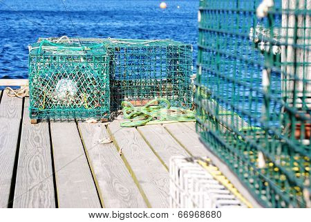 Lobster Traps In Maine