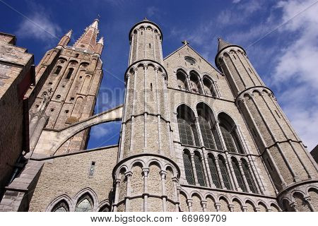 medieval cathedral of Brugge