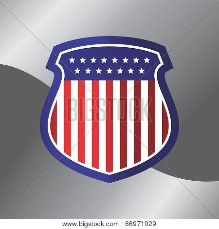 american flag shield theme