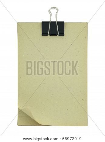 Blank Paper Clipboard Isolated On White