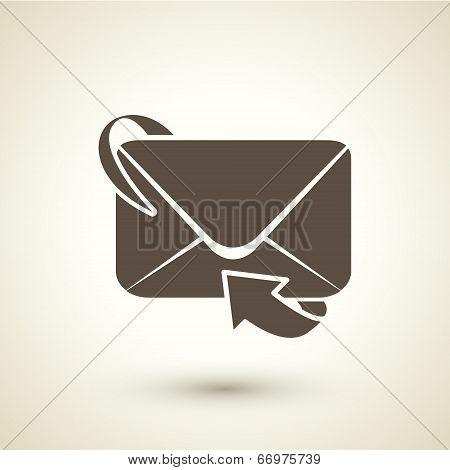 Retro Style Email Forwarding Icon