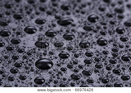 Water Drops On Hydrophobic Plastic Surface