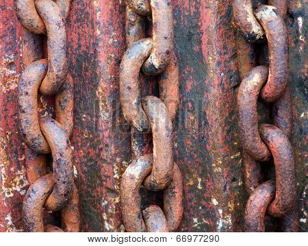 Old Rusty Chains On The Rotor