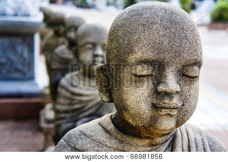 Novice statues