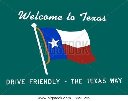 Texas Greeting-Welcome to Texas