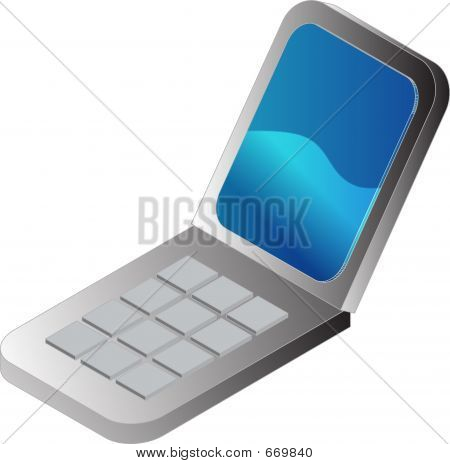 Clamshell Cellphone Illustration