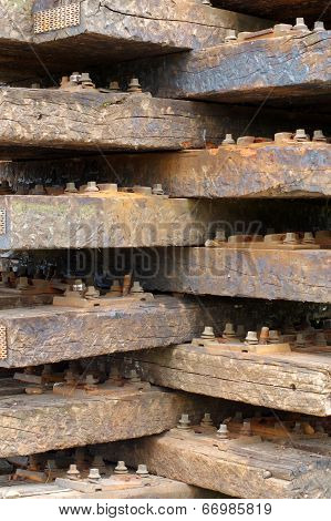 old wooden sleepers