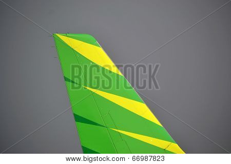 Citilink airplane tail wing