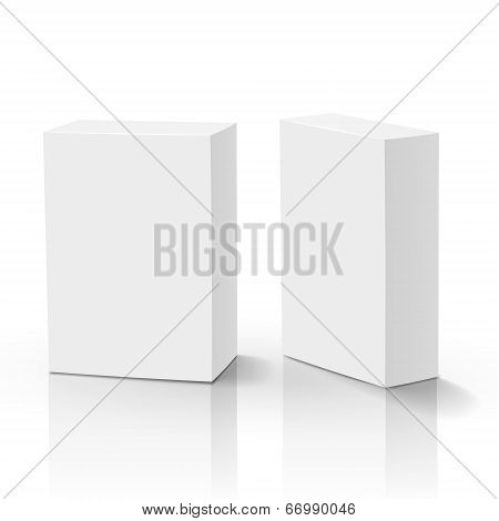 3D Vector Blank Box Isolated