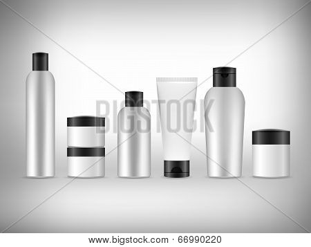 Vector 3D Blank Cosmetics Packaging