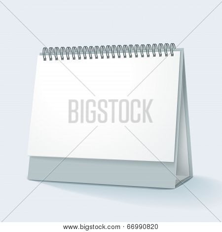 Vector Illustration Of Blank Desktop Calendar