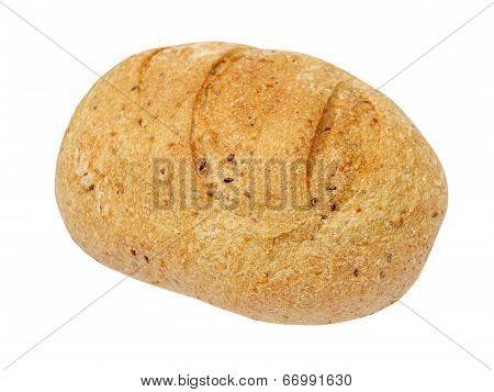 Appetizing Wholegrain Bread Taken Closeup.isolated.