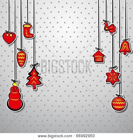 creative christmas background vector