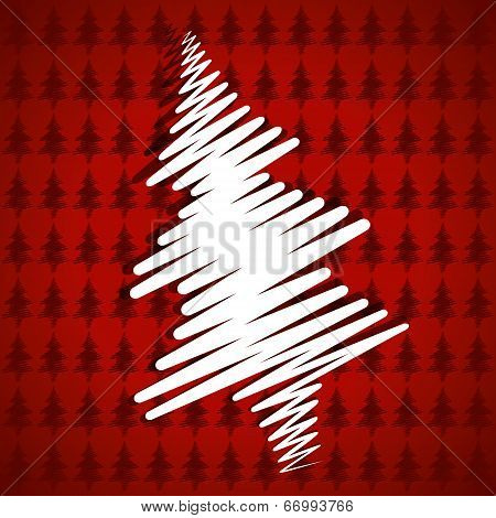 white christmas tree label background vector