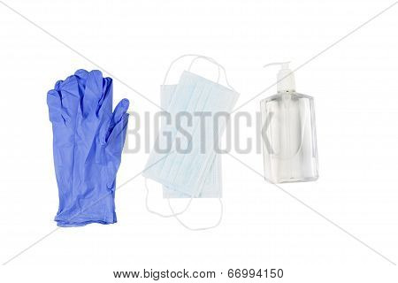 Personal Hygiene Products On White Background