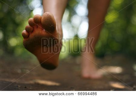 Bare foot running