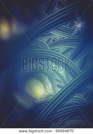 Power concept, Abstract fractal texture, wisps and lights, Background design