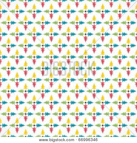 colorful christmas tree pattern background vector