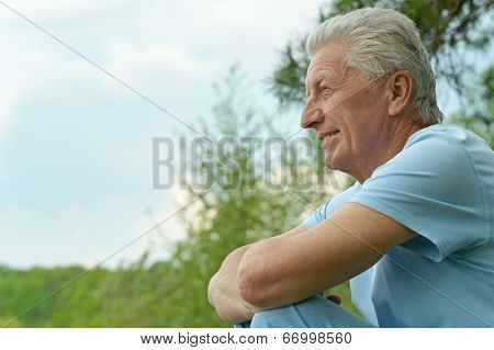 attractive senior man