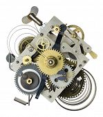 pic of time machine  - Stylized metal collage of clockwork - JPG