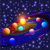 pic of earth mars jupiter saturn uranus  - illustration cosmos planets in the solar system - JPG