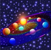 stock photo of uranus  - illustration cosmos planets in the solar system - JPG