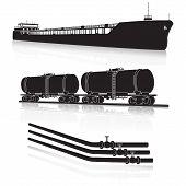 image of fuel tanker  - oil transportation - JPG