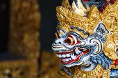 image of hindu-god  - Close up of a traditional Balinese God statue in Bali temple - JPG