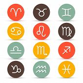 stock photo of horoscope  - Vector Zodiac - JPG