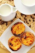 foto of pasteis  - a jar and a cup with milk - JPG