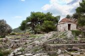 picture of artemis  - Chapel at the Sanctuary of Artemis at Vravrona in Greece - JPG