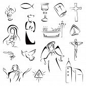 stock photo of eucharist  - Religion symbols - JPG