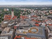 picture of leipzig  - Aerial view of the city of Leipzig in Germany - JPG