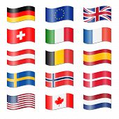 picture of holland flag  - Set Of fifteen Swung Country Flags Germany EU USA  - JPG