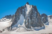 foto of crevasse  - Massif de mont Blanc on the border of France and Italy - JPG