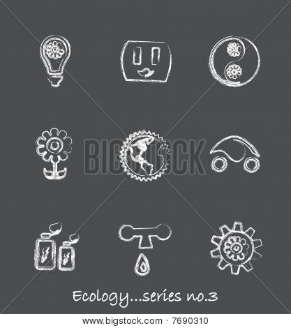 Ecology chalkboard icons...series no.3