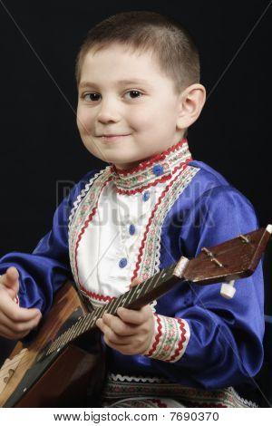 Little Boy With Balalaika