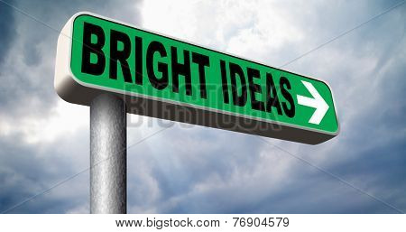 bright ideas being inspired brilliant great idea new innovation or invention eureka creative solution or discovery