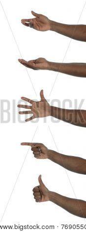 Dark-skinned hand gestures
