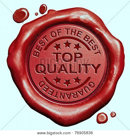 top quality label best of the best product guaranteed promotion red wax seal stamp
