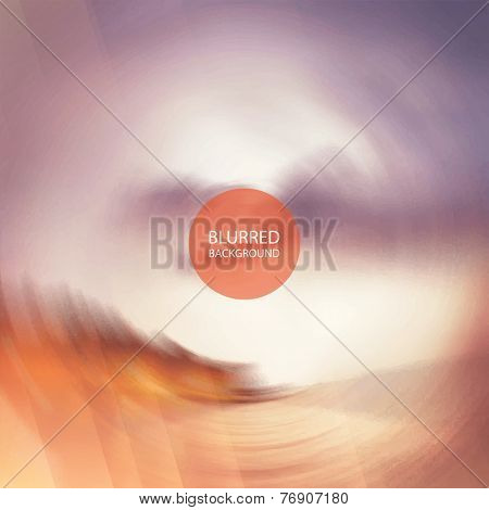 Abstract Background Vector - Twisted Blurred Image