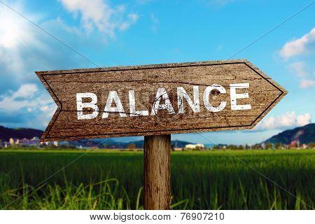 Balance Road Sign