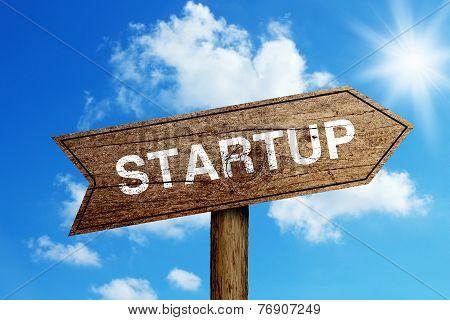 Startup Road Sign