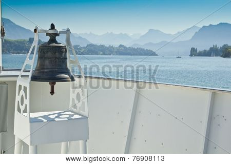 Bell On A Ferry In Switzerland