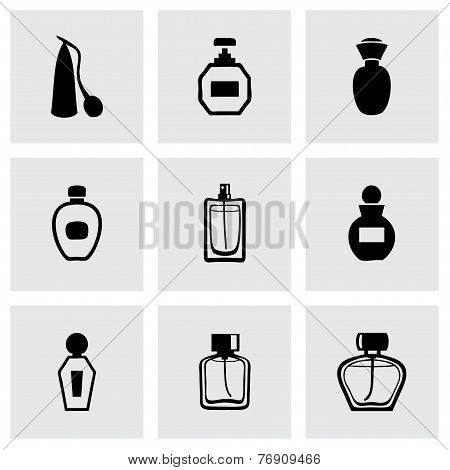 Vector perfume icon set