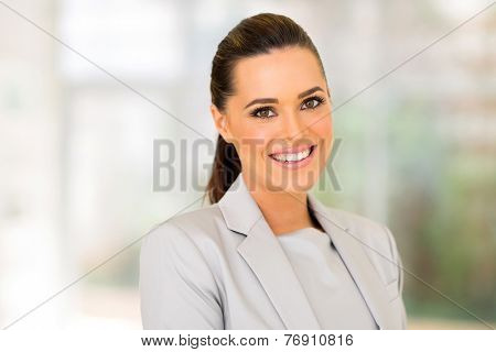 attractive young entrepreneur in modern office